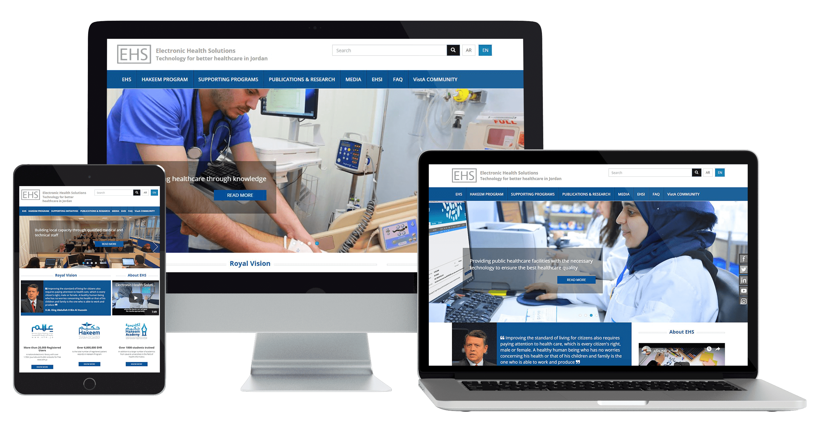 Sprintive Developed the website for Electronic Health solutions